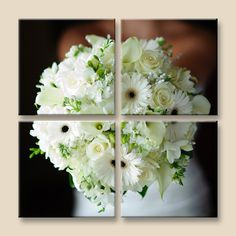 Canvas photos of your bridal bouquet instead of preserving the bouquet!    Flowers: Shelly's Designs Florist  www.shellysdesign...    Photography: Dan Terpstra Photography
