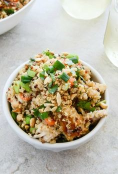 Thai Chicken Quinoa Bowl I howsweeteats.com/Did no change a thing. We loved this and I will make often.