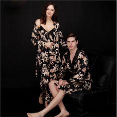 Sleepwear & Robes Self-Conscious Women Kimono Satin Bridesmaid Bath Robe Pajamas Gown Sleepwear Gold Sleepwear Fs Modern Techniques