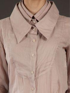 Multiplication - triple collar shirt; cool fashion design details // Viktor & Rolf_capes cristina! _matriosca un dins laltre IMP!