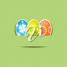 iCLIPART - Cute background clip art illustration with Easter eggs