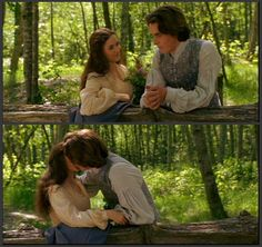 Winona Ryder (Jo March) & Christian Bale (Laurie) - Little Women directed by Gillian Armstrong (1994) #louisamayalcott