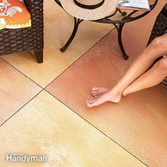 Concrete stains are a quick, inexpensive way to transform an uninteresting concrete slab into an elegant patio that's vibrant with rich color.