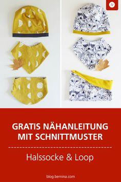 halssocke-und-loop-fur-kleinkinder-tutorial-mit-freebie/ - The world's most private search engine Toddler Sewing Patterns, Hat Patterns To Sew, Sewing For Kids, Free Sewing, Diy For Kids, Sewing Tutorials, Sewing Hacks, Sewing Projects, Sewing Crafts