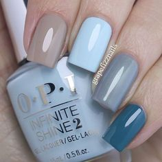 OPI Fiji Skittle Manicure - I am wearing (from pointer to pinkie finger) Coconuts Over OPI, Suzi Without a Paddle, I Can Never Hut Up and Is that a Spear in Your Pocket? Nagellack Trends, Super Nails, Nagel Gel, Opi Nails, Gel Manicures, Nails 2017, Nail Nail, Nail Polish Colors, Opi Polish
