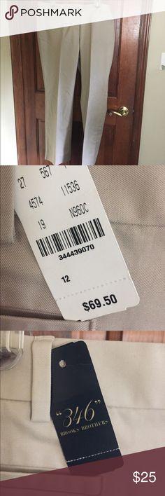 Khaki brooks bits dress pants New with tags. Khaki color. Brooks Brothers Pants Trousers