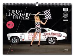 """GIRLS & LEGENDARY US-CARS"" 2015 Weekly Calandar by Carlos Kella / Limited to 2.015 pieces, numbered and signed by the artist / With 22 girls and more than 30 US-cars inside! / Photography: www.carloskella.de / Publishing house: SWAY Books / format: 42 x 30,7 cm, 56 Pages, Wire-O-Binding / ISBN: 9783943740097 / Price: EUR 34,90 (inkl. VAT) ==> Get yours: www.sway-books.de (Germany) www.ars-vivendi.de (other Countries)"