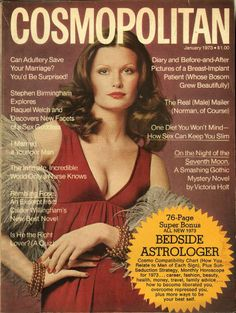 January 1973 cover with Denise Hopkins