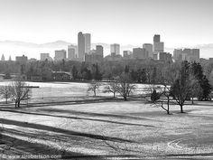 Denver Skyline as seen from Denver Museum of Natural History, City Park