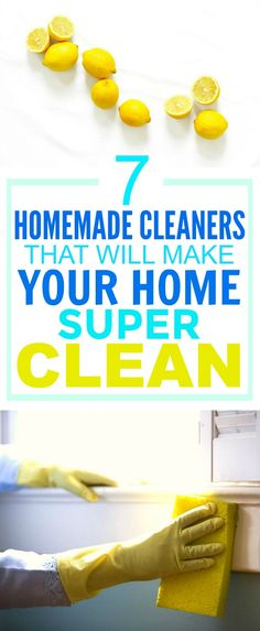 These 7 Easy Homemade Cleaners are SO GOOD! They've saved me SO MUCH money! I'm so happy I found this AWESOME post! I'm definitely pinning this for later so I don't forget ANY of them!