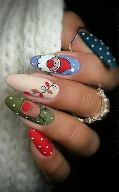 this christmas awesome nails design ideas and nail polish - page 45 of 56 - daily women b . - this christmas awesome nails design ideas and nail polish – page 45 of 56 – daily women blo - Nail Art Noel, Xmas Nail Art, Cute Christmas Nails, Christmas Nail Art Designs, Xmas Nails, Fall Nail Designs, Acrylic Nail Designs, Merry Christmas, Christmas Design