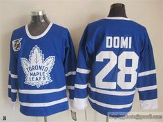 Toronto Maple Leafs #28 Tie Domi Blue 75th Anniversary NHL Jersey