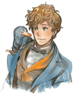 Hey Newt Scamander by Prema-Ja Harry Potter Drawings, Harry Potter Anime, Harry Potter Fan Art, Harry Potter Universal, Harry Potter Fandom, Harry Potter World, Harry Potter Memes, Fantastic Beasts Fanart, Fantastic Beasts And Where