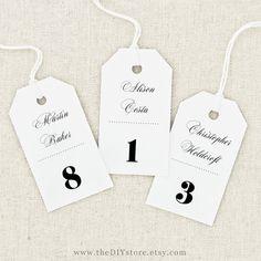 LARGE Escort Card Tag Printable, Text Editable, INSTANT Digital Download, Hang Tags, Thank You Tag, Favor Tag, Wedding Gift Tag
