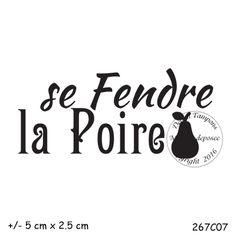 Juin 2016 : TAMPON SE FENDRE LA POIRE par Meldon Company Logo, Tes, Pear, Quotes
