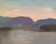 Christine Lafuente, Acadian Mountains from Little Cranberry, oil on canvas, 11 x 14 inches