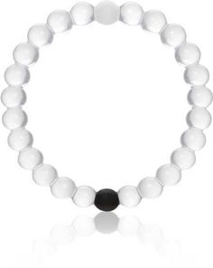 The Lokai bracelet was made by a man whose grandfather had recently been diagnosed with Alzheimer's. The black bead of the lokai bracelet holds mud from the Dead Sea, the white bead of the lokai bracelet carries water from Mount Everest to represent the highs and lows in life. 10% of proceeds go to charity