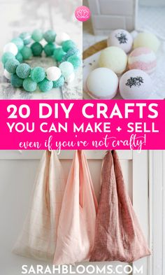 Earn extra money doing what you love with these 20 Best DIY Crafts You Can Make and Sell for Extra Cash! #diycrafts #makemoney #makingmoney #diycraftstomakeandsell #sidehustles #workfromhome #onlinebusiness #makemoneyonline Crafts To Make And Sell, Easy Diy Crafts, How To Make Money, Sell Diy, Homemade Crafts, Shop Up, Make Blog, Printable Designs, Extra Money