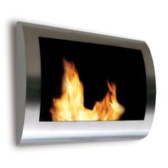(Bedroom) Chelsea 28 in. Vent-Free Ethanol Fireplace in Stainless Steel-90298 at The Home Depot