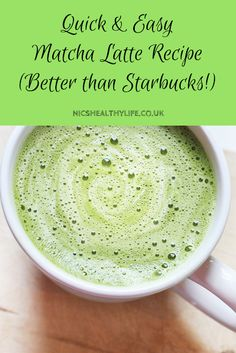 Recipe: Easy Matcha Green Tea Latte (Better than Starbucks!) Recipe: Easy Matcha Green Tea Latte (vegan gluten free refined sugar free) The post Recipe: Easy Matcha Green Tea Latte (Better than Starbucks!) appeared first on Rezepte. Smoothie Drinks, Healthy Smoothies, Healthy Drinks, Healthy Recipes, Nutrition Drinks, Smoothie Diet, Lunch Recipes, Meat Recipes, Seafood Recipes