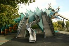"""Dragon's Garden"" at the Parc de la Villette in Paris, France."
