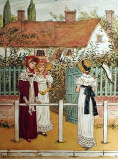 Kate Greenaway (1846-1901) was a late 19th-century author and illustrator. Along with Randolph Caldecott and Walter Crane, she was one of the three most influential, popular and respected English children's illustrators of the time. Over a century after her death, her work remains sought-after, and The Kate Greenaway Medal, an annual prize (since 1955) awarded for excellence in the field of English children's illustration, lives on in her honor.