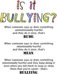 Rude / Mean / Bullying: from Trudy Ludwig's website