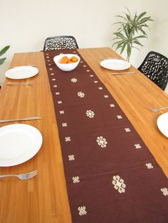 Chenal Table Runner Chocolate | Chiapas Bazaar | Handmade Blouses,  Accessories U0026 Home Decor By