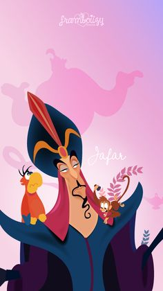 Image in Arts collection by FanDeAsheley on We Heart It Disney Magic, Disney Pixar, Evil Disney, Disney Fan Art, Disney Villains, Disney Cartoons, Disney Jasmine, Aladdin Wallpaper, Wallpaper Iphone Disney