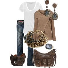 A fashion look from September 2012 featuring WalG cardigans, Étoile Isabel Marant t-shirts and True Religion jeans. Browse and shop related looks.