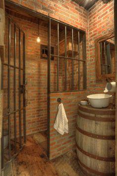 Primitive bathrooms 5629568271978203 - 15 primitive bathroom designs that were once famous in his era 8 – Home Decor Source by nhampshire Cabin Bathrooms, Primitive Bathrooms, Rustic Bathrooms, Western Bathrooms, Industrial Light Fixtures, Industrial Lighting, Rustic Style, Rustic Decor, Deco Cool