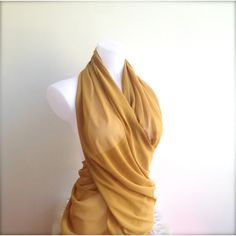 Spicy Mustard Wedding Shawl, Mustard Yellow Chiffon Scarf, Sheer... (€21) ❤ liked on Polyvore featuring accessories and scarves