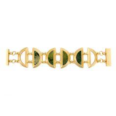 Stephanie Kantis MINUTIA BRACELET GREEN MOSS AGATE #Jewelry