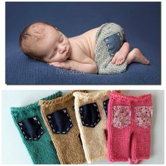 Newborn knit pants with pockets Etsy listing at https://www.etsy.com/listing/204870041/newborn-knit-pants-with-jeans-back