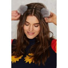 Pom Before the Storm Headband ($7.20) ❤ liked on Polyvore featuring accessories, hair accessories, grey, headband hair accessories, head wrap hair accessories, head wrap headband, hair bands accessories and hair band headband