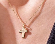 Hand Crafted Iced Out Cross Pendant Necklace in Gold or Silver   Etsy Cross Pendant, Gold Pendant, Pendant Necklace, Solid Gold, White Gold, Denim And Lace, Chains For Men, Gold Cross, Necklace Price