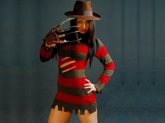 A Freddy Krueger Costume With Rip Marks