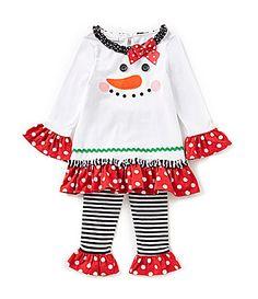 Bonnie Jean 2T6X Snowman Face Dress and Pant Set #Dillards