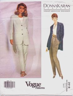 90s Vogue American Designer Pattern 2198 DKNY by CloesCloset, $12.00