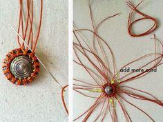 Ecocrafta: SUN Macrame Necklace