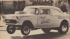 History - Drag cars in motion. Chevy Ssr, 1955 Chevy, Old Hot Rods, Old Race Cars, Vintage Race Car, Drag Cars, My Dream Car, Car Humor, Drag Racing