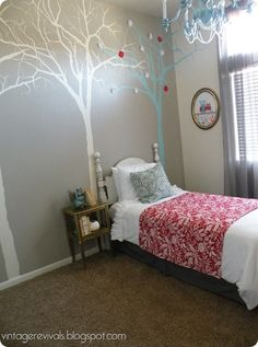 Trees on the wall-for one wall of Briggs'play room?