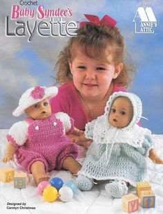 Baby Doll Clothes, Crochet Doll Clothes, Doll Clothes Patterns, Baby Dolls, Vintage Crochet Patterns, Crotchet Patterns, Layette Pattern, Bear Paw Quilt, One Piece Pajamas