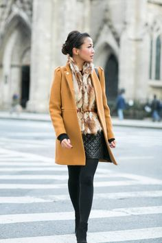 Revenge On #Winter :: #Mustard #Coat & #Quilted #Skirt