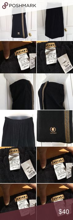 New Caesars casino wearable chest towel wrap spa C New Caesars casino wearable towel wrap spa souvenir. C Sexy Female chest Wrap soft wearable bath spa towel fast dry. Adjustable front side chest closure  Elasticize back Gold lace detailing  Signature logo in gold embroidery  One size  100% Cotton  Smoke and pet free. Measurements included. Caesar Intimates & Sleepwear Robes
