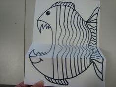 Once upon an Art Room: Freaky Fish Classroom Art Projects, School Art Projects, Art Classroom, Art Substitute Plans, Art Sub Plans, Art Sub Lessons, Third Grade Art, Sea Crafts, Sea Art