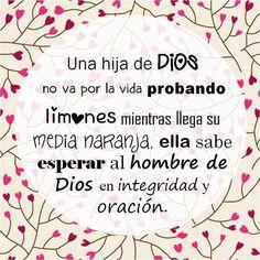 Aprende a esperar en Integridad y Oracion y no vallas Por la vida siendo instrumento del Diablo!!