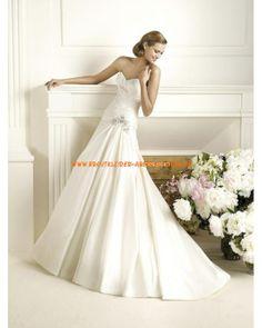 Wunderschönes Brautkleid Bodenlang A-Linie Herz-Ausschnitt online 2013