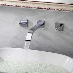 Bathroom Sink Taps wall mount Contemporary Widespread design