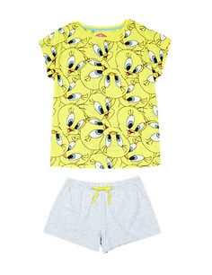 Pure Cotton Tweety Short Pyjamas (6-12 Years) | M&S